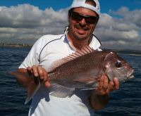 Andrew Perros with Snapper